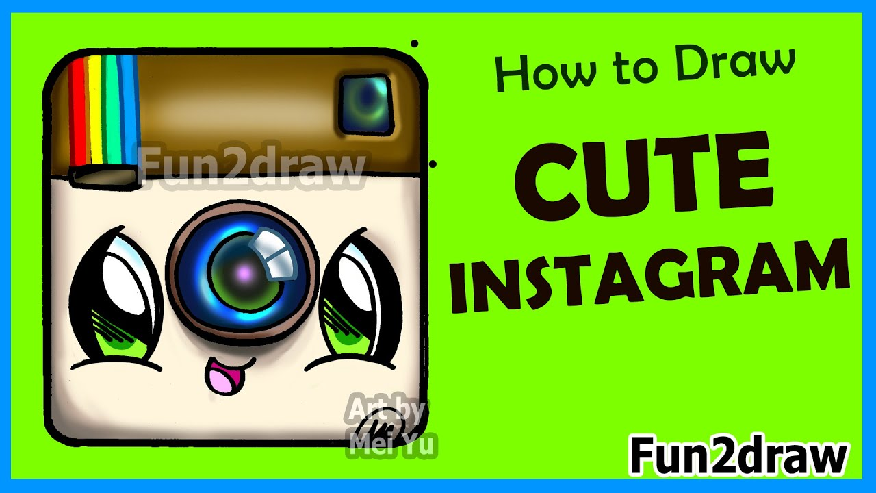 Scribble Drawing Instagram : How to draw cute instagram logo step by easy
