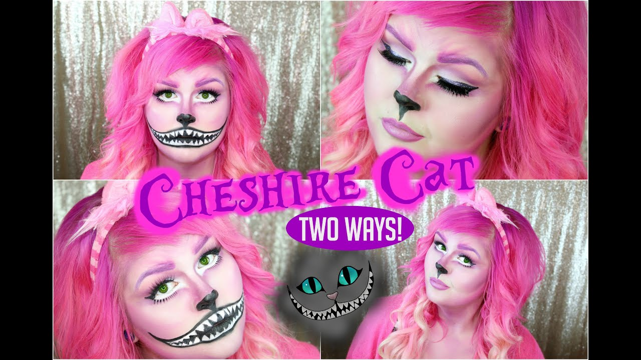 cheshire cat halloween makeup tutorial girly or creepy youtube - Halloween Tutorials