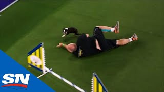 Westminster Dog Show Trainer Wipes Out In Front Of Ripple The Dog