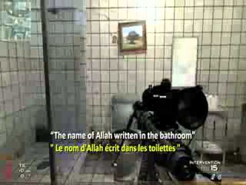 call of duty important le nom d allah ecrit dans les toilettes youtube. Black Bedroom Furniture Sets. Home Design Ideas