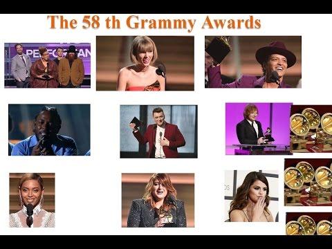 Winners of Grammy Awards 2016...