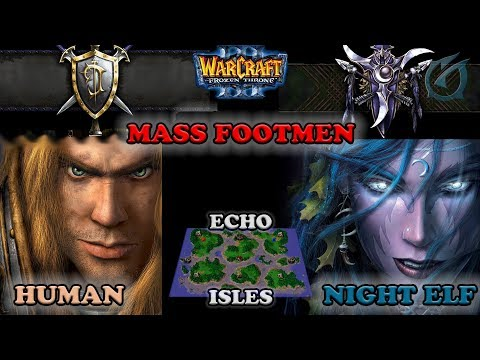 Grubby | Warcraft 3 The Frozen Throne | HU v NE - Mass Footman - Echo Isles