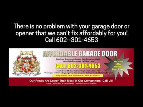 Cracked Garage Door Spring Pad Repair Phoenix AZ