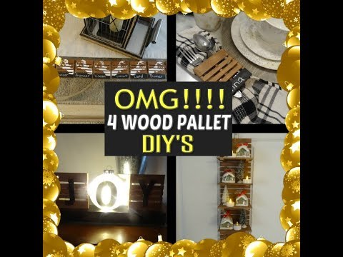 Dollar Tree Wood Pallet DIY's Easy But...OMG!!!! Farmhouse, Rustic, Lighted
