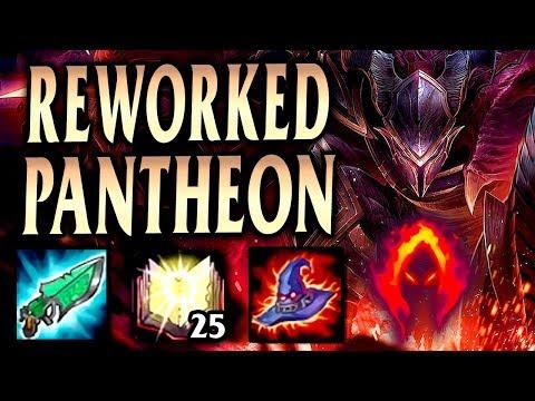 REWORKED PANTHEON 1200+ AP DRAGON DROP ONE-SHOTS! - League of Legends S9