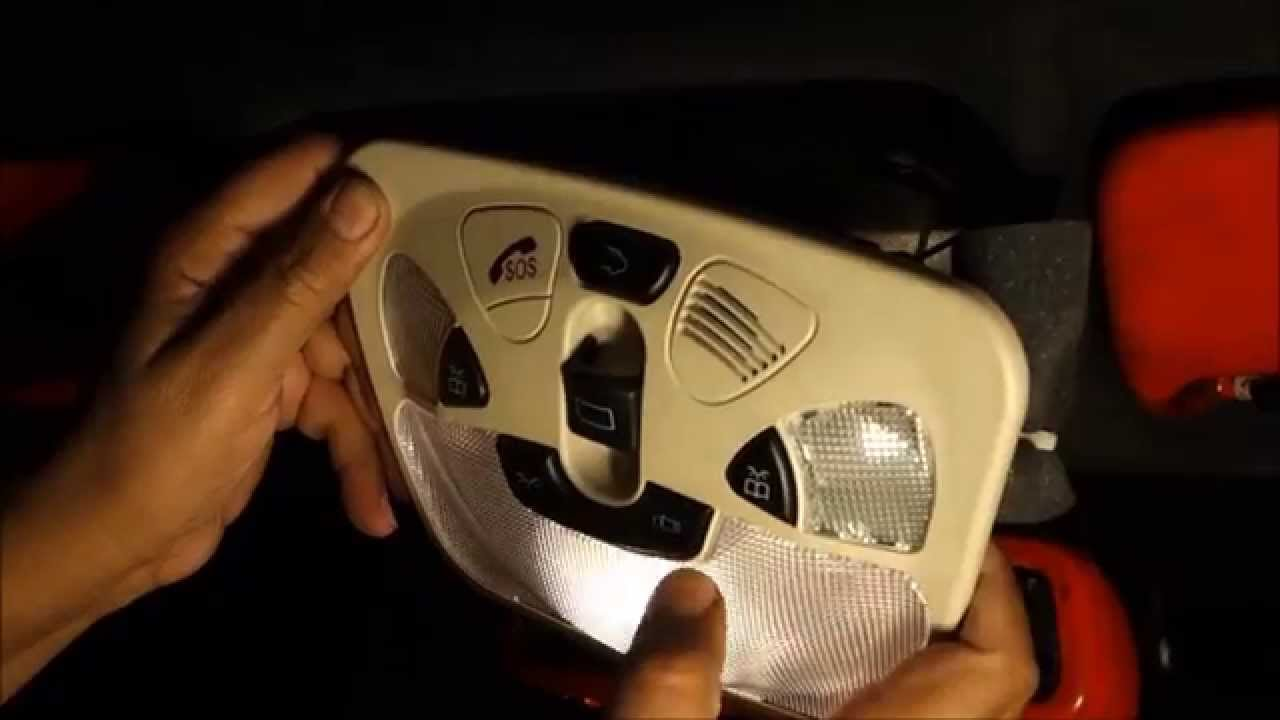 how to replace mercedes dome light assembly w209 c209 clk class youtube [ 1280 x 720 Pixel ]