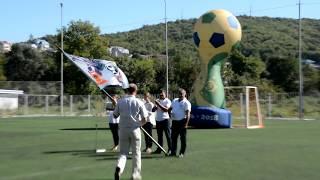 Как село на Кубани встречает флаг Чемпионата мира по футболу 2018