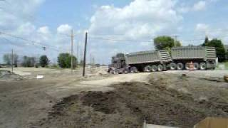 michigan gravel train dump truck