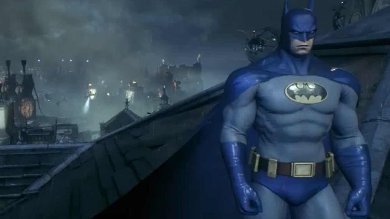 & 70s Blue u0026 Grey Batman costume DLC (Arkham Knight) - YouTube