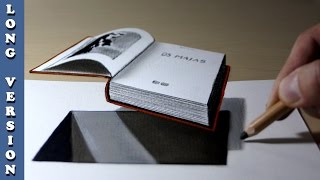 3D Trick Art on Paper, Book out of hole, Long Version