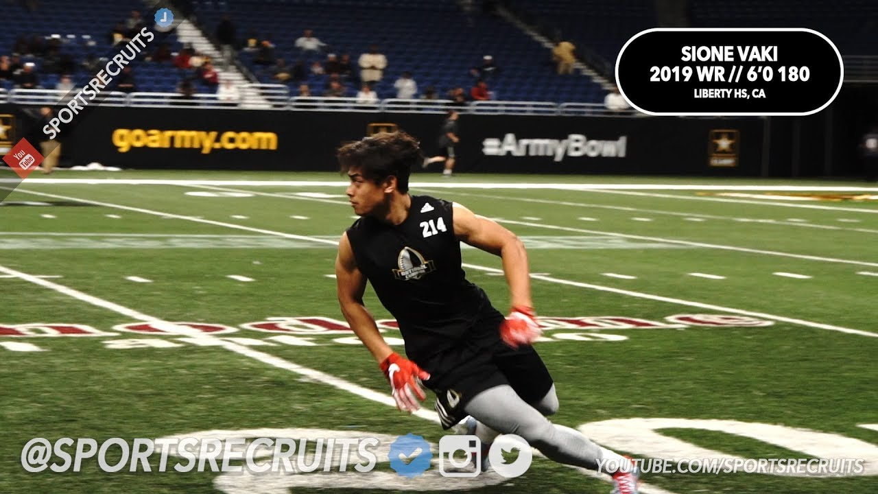 Sione Vaki  19 WR (Liberty) 6 0 180  National Combine Highlights -   SportsRecruits Official Mix fba2208c4