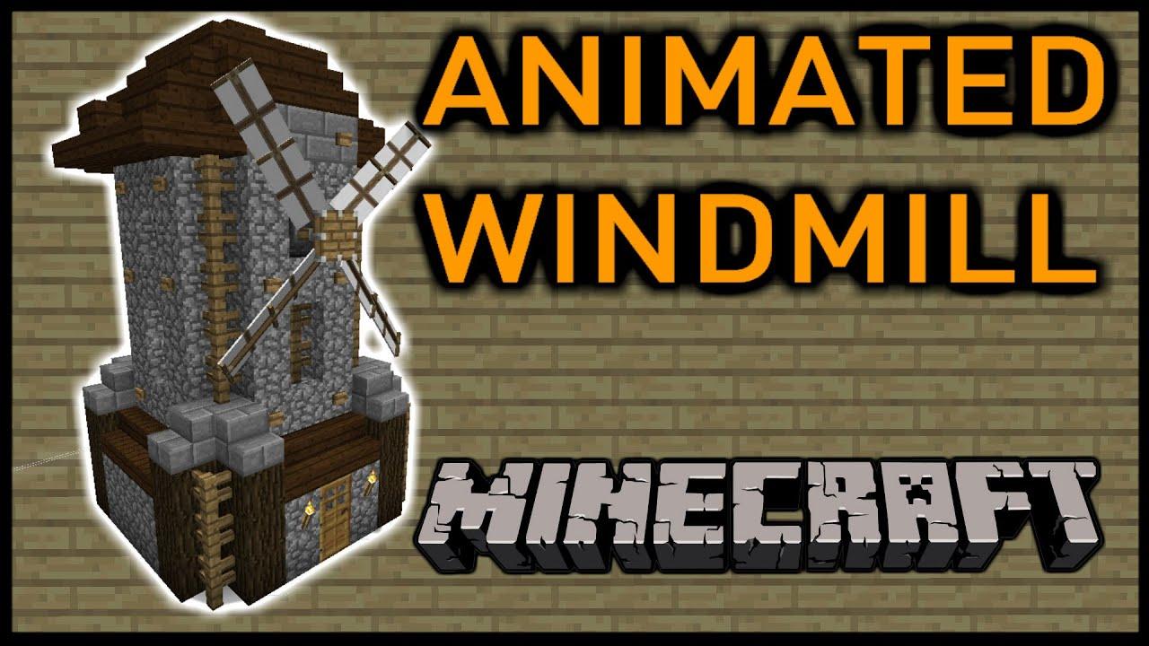 [1.8 Vanilla Minecraft] Working WINDMILL! - YouTube