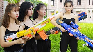 Xgirl Nerf War Top 10 Episodes Warriors X Girl Team Seal Us Nerf Guns Criminal Group Compilation MP3