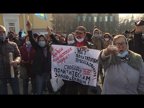 Hundreds Attend Rare Protest In Kazakhstan