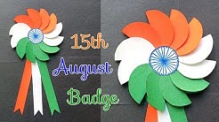 DIY Independence Day Badge | Indian Tricolor Badge | 15th