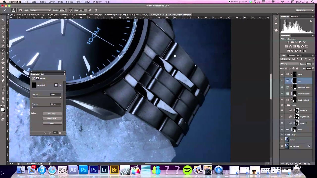 High end retouching, watch photography