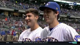 Christian Yelich on his brother, Cameron, a former Marine