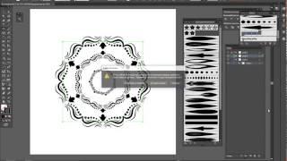 Создаём узорную кисть в Adobe Illustrator. Создаём красивый узор.