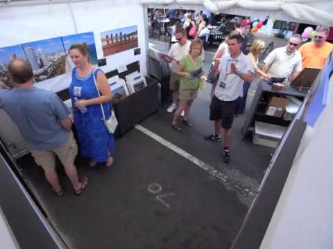 Evan Reinheimer Time Lapse @ Manayunk Arts Festival - Philadelphia, PA 6/23/2012