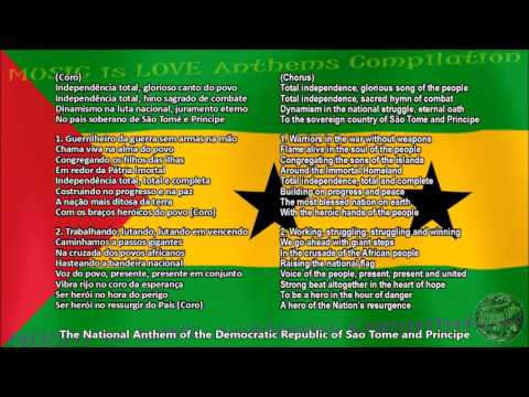 Sao Tome and Principe National Anthem with music, vocal and lyrics Portuguese w/English Translation