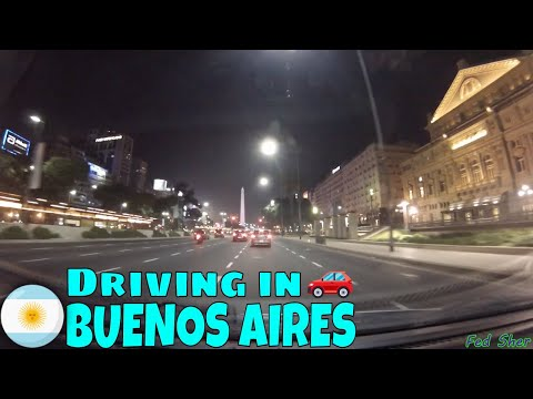 Driving in Buenos Aires (from Palermo to Puerto Madero)