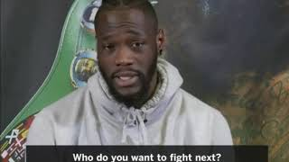 DEONTAY WILDER SAYS HE REFUSES TO FIGHT ANTHONY JOSHUA UNTIL 2022 LIVE ON FOX TV
