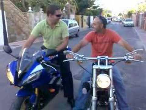 Yamaha R6 2008 vs Harley Davidson 883 - YouTube