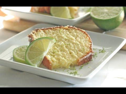 Homemade Glazed Lime Pound Cake Recipe Youtube