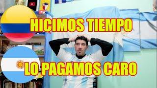 COLOMBIA vs ARGENTINA 2-2  REACCION de HINCHA ARGENTINO 😡