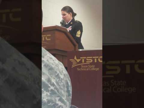 1SG Wilson speaking at Women's Veteran Event