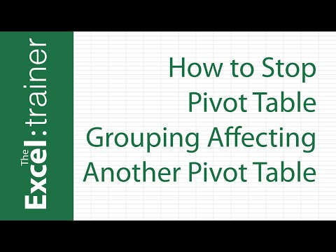 How to Stop Pivot Table Grouping Affecting Another Pivot Table - YouTube