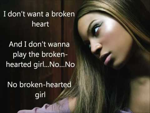 Lyrics Beyoncé  Broken hearted girl