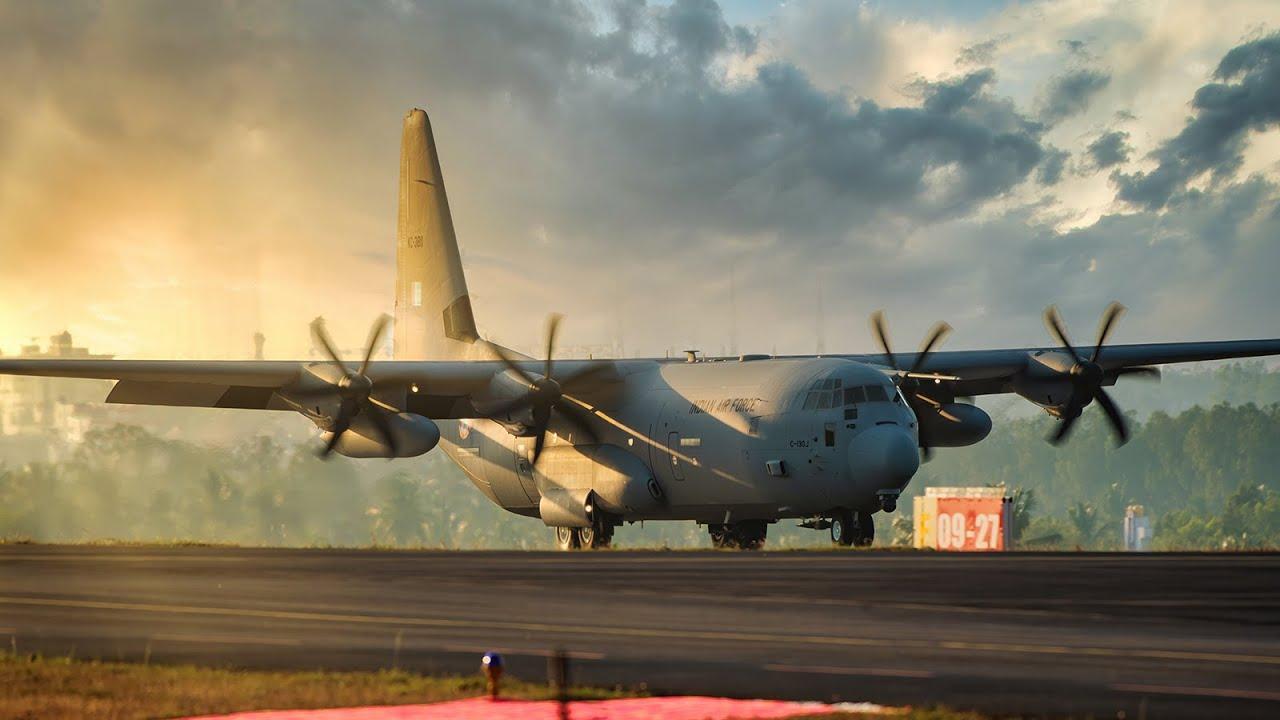 Indian Air Force C 130j Super Hercules Departure