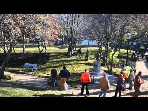 St James Park Revitalization Timelapse - Oakridge Landscape Contractors