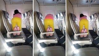 Woman Caught Doing Y๐ga Routine While On Flight To San Diego