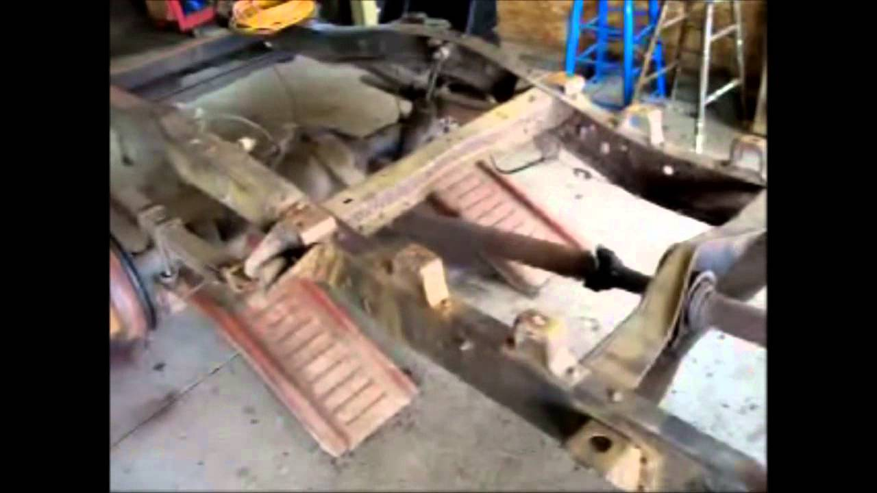 cleaning the frame up for paint- 1972 chevy truck - YouTube