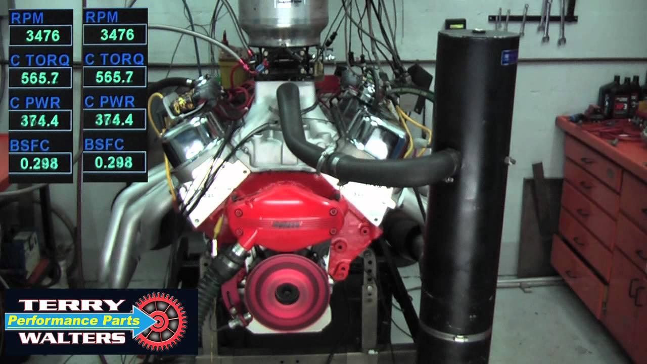 David Vizard BBC 525CI 496 Stroker Engine 800hp 729 ft/lbs 87 Pump Gas