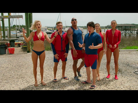 Behind The Scenes on Baywatch - Movie B-Roll & Bloopers - Dwayne Johnson, Alexandra Daddario
