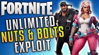 "Fortnite Save The World Glitch ""Unlimited Nuts and Bolts Glitch"" Fortnite Glitches"