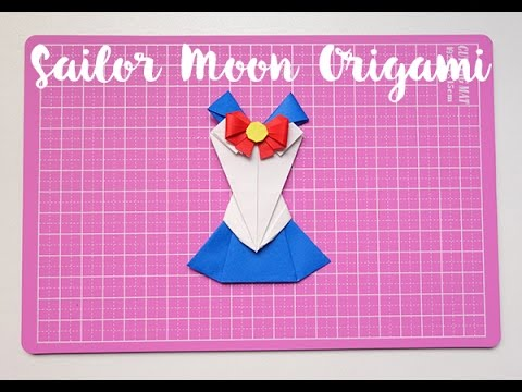 Sailor Moon Origami Vestido De Papel Papercraftsquarecom