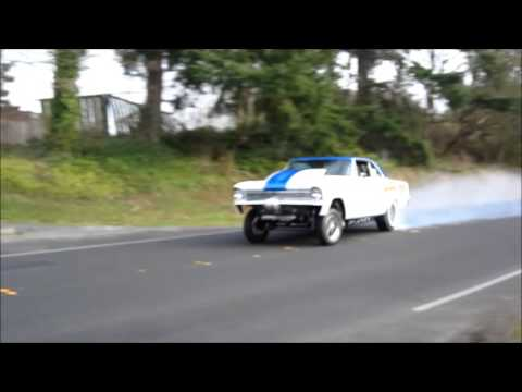 1966 Chevy Nova Straight Axle Gasser 468 BBC Burnout