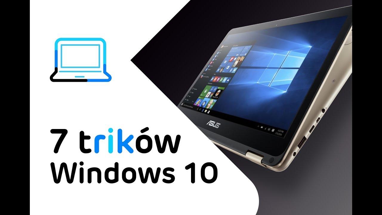 7 trików Windows 10 - porady i sztuczki na touchpadzie Asus Zenbook