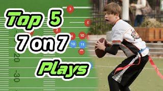 Top 5 Youth 7 oฑ 7 Flag Football Plays
