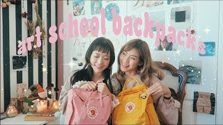 One of CatCreature's most viewed videos: INSIDE OUR SCHOOL BACKPACKS // art school supplies, advice, etc