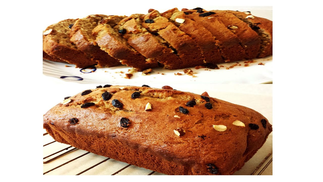 Banana Loaf Cake/Banana Bread with Whole Wheat flour | No butter ...