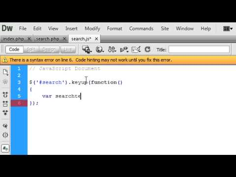 Javascript Instant Search Using Keywords Youtube
