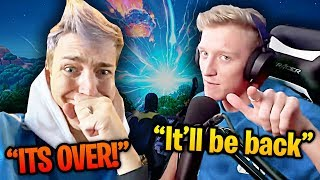 Fortnite Streamers REACT To Season 11 EVENT! CHAPTER 2 BEGINS!