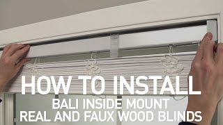 How to Install Bali® Real Wood and Faux Wood Blinds - Inside Mount Mp3