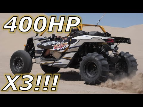 Driving A 400HP Can Am Maverick X3!!!