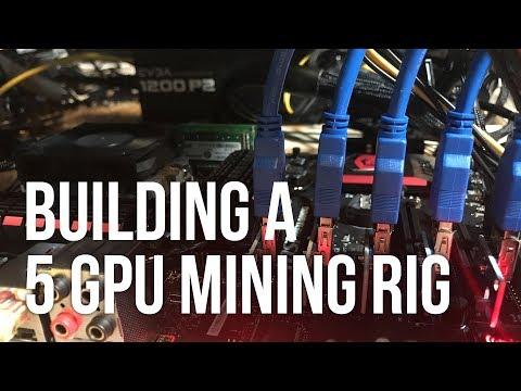 Building a 5 RX 470 GPU ETH Mining Rig Running ethOS